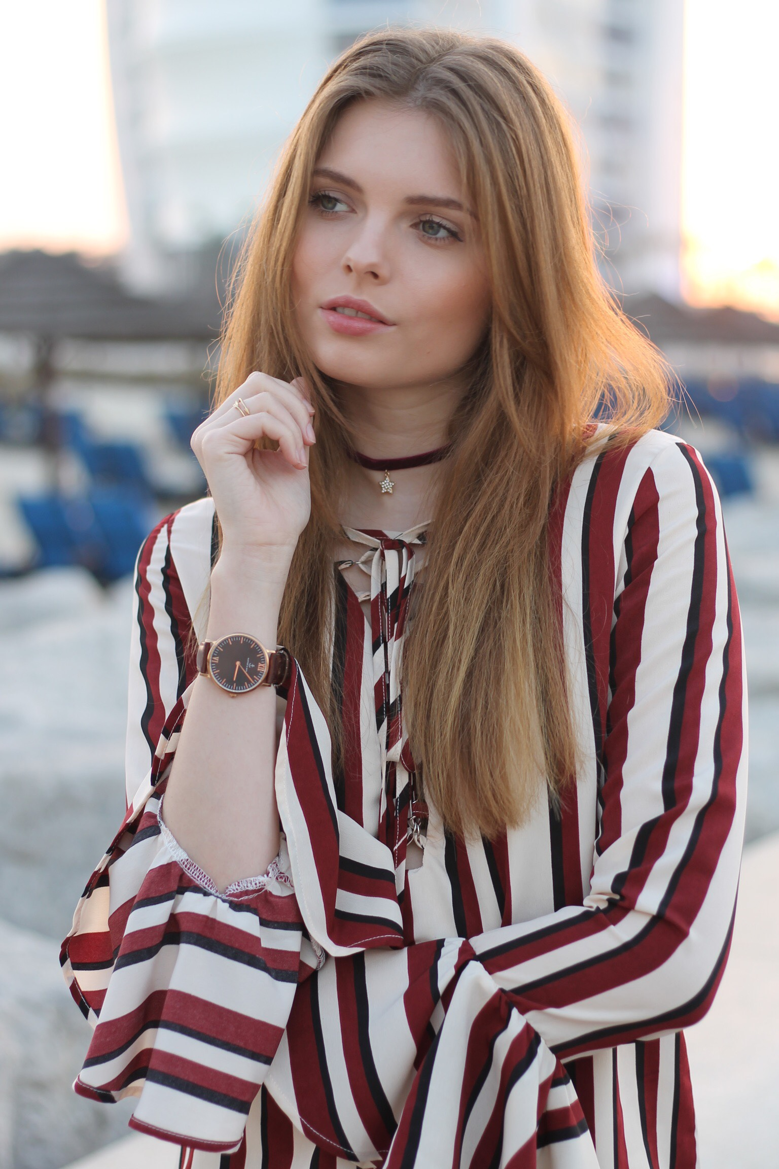 file21kopie - STRIPED BLOUSE OUTFIT IN DUBAI