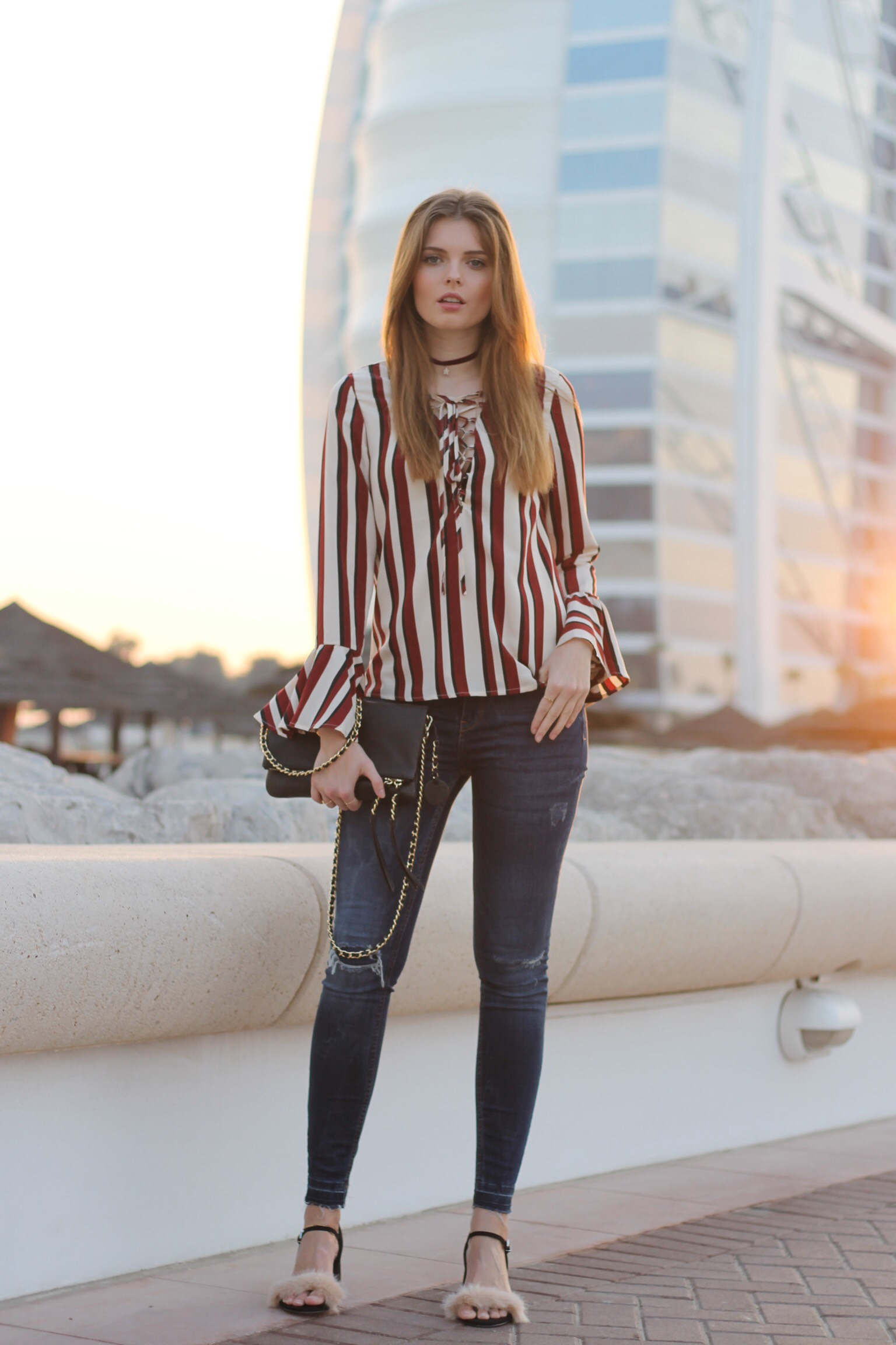 file6 - STRIPED BLOUSE OUTFIT IN DUBAI