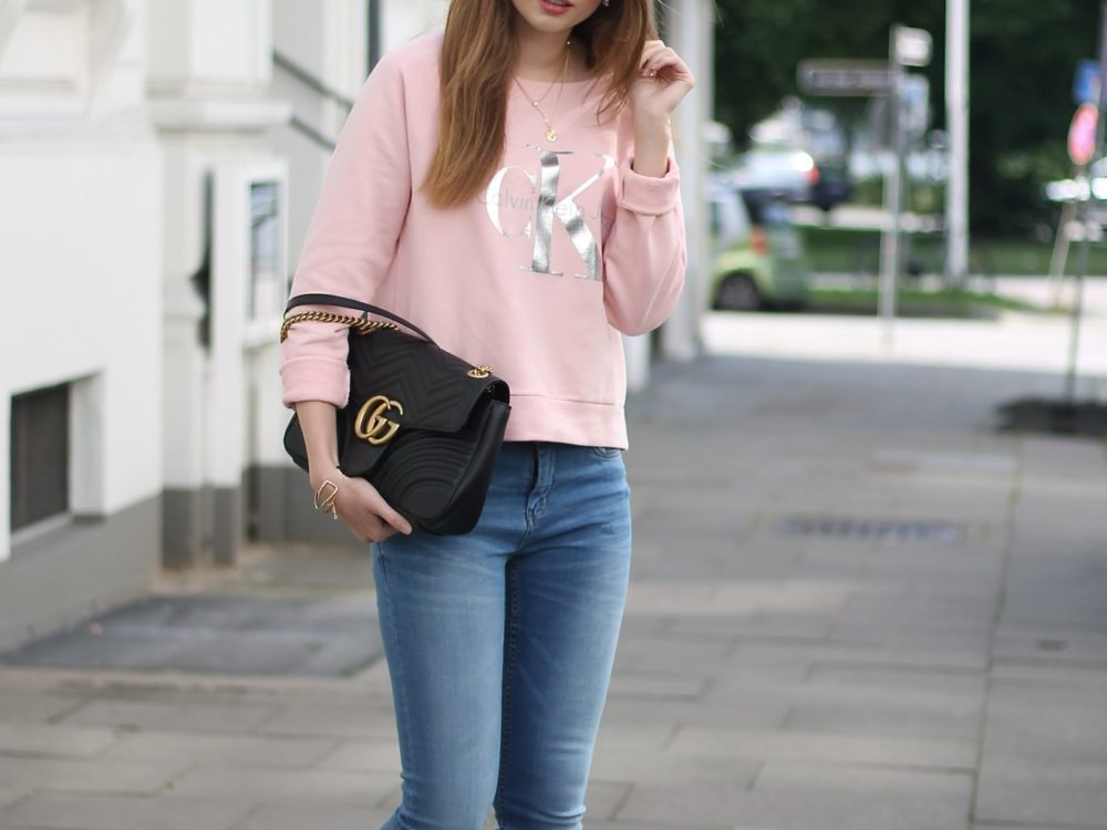 CASUAL STREET STYLE I CALVIN KLEIN x GUCCI MARMONT BAG