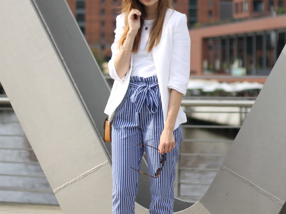 CASUAL STRIPED PANTS I HAMBURG STREETSTYLE