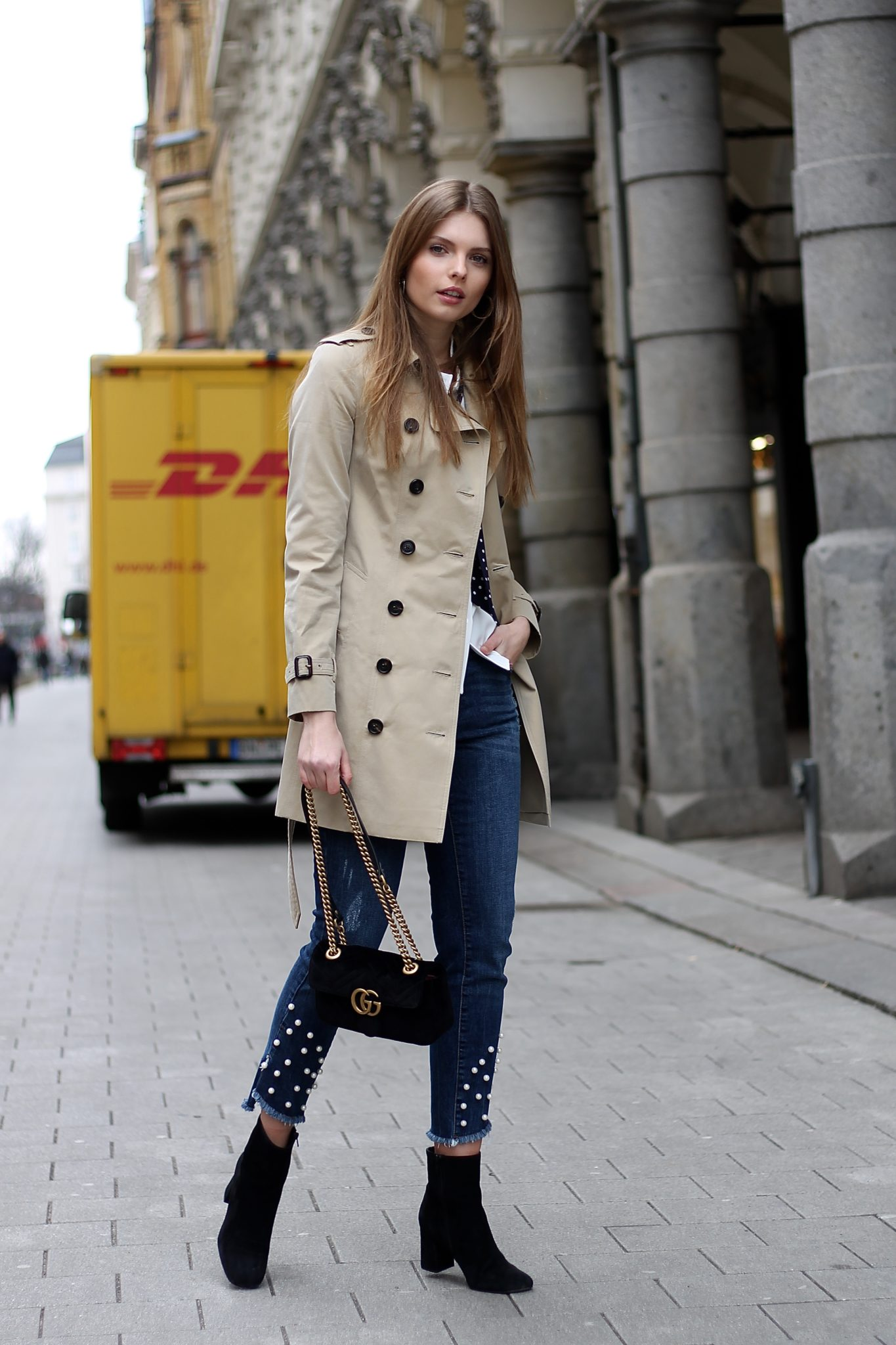 IMG 2958 - beige & blue I BASIC BURBERRY TRENCHCOAT