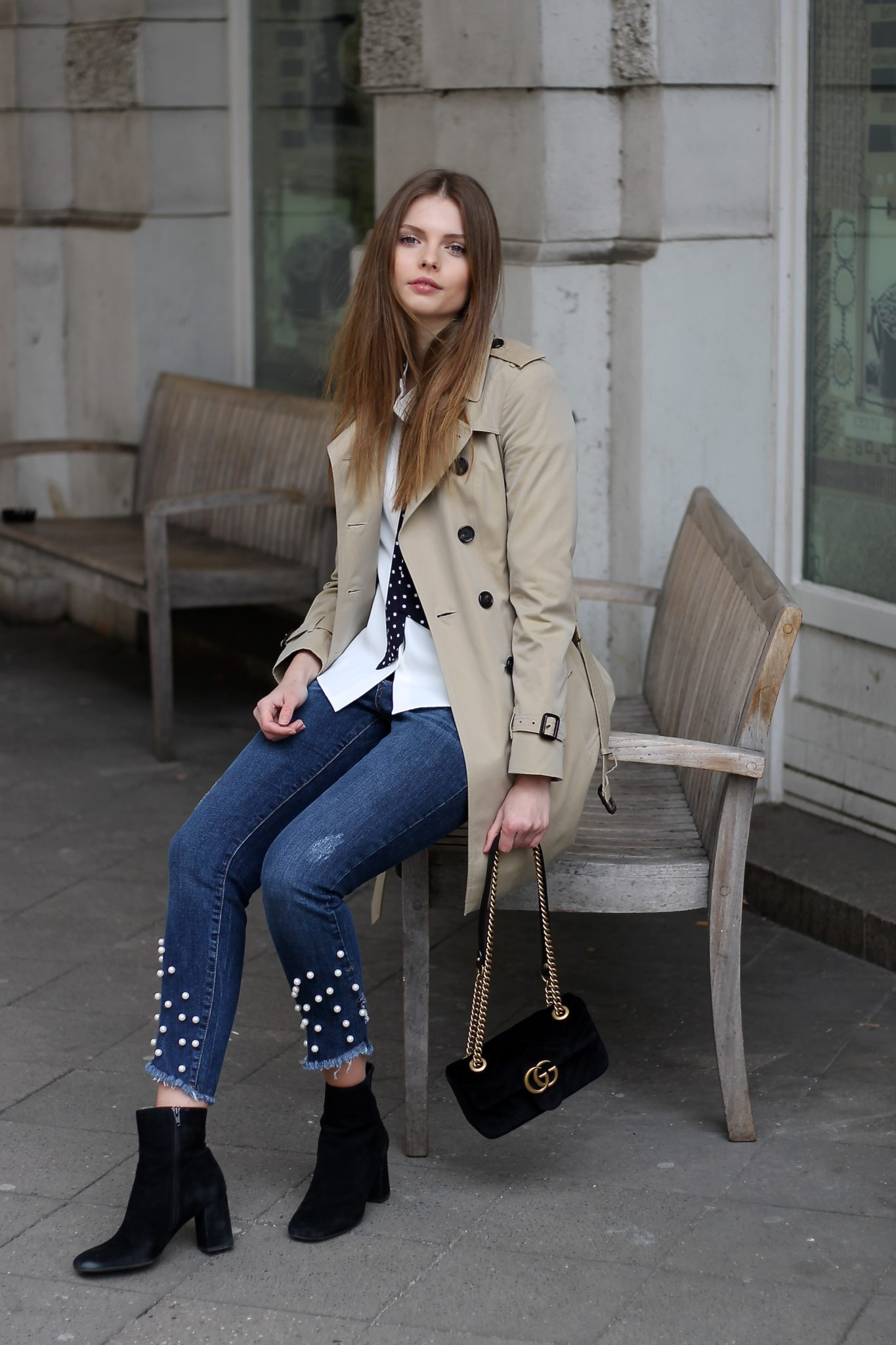 IMG 3128 - beige & blue I BASIC BURBERRY TRENCHCOAT